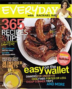 Rachael Ray magazine cover for August 2009