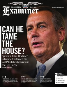 Washington Examiner magazine cover