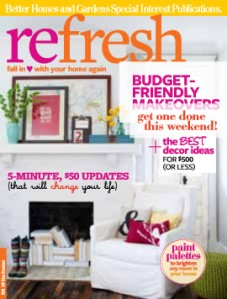 Refresh magazine cover